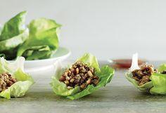 Asian Chicken Lettuce Wraps.