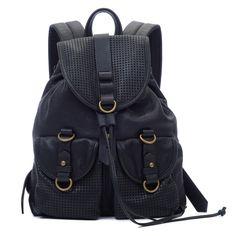 Joelle Hawkens Rachel Backpack Black Leather Front