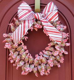 Candy Wreath Edible Caramel Creme Gifts Christmas Unique