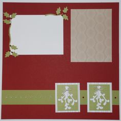 Left Mistletoe Scrapbook Page