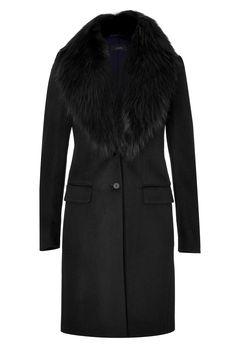 Wool-CashmereCoatwithFurCollarfromJOSEPH | Luxury fashion online | STYLEBOP.com