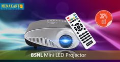 747246e0b6057a BSNL Mini LED Projector Up To 100 Inch Projection Size, 60 Lumens, With  HDMI, VGA, USB, AV, SD Card Slot, A77 Color Black & White