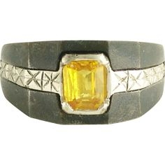 Marsh and Co Golden Sapphire Ring from adorn on Ruby Lane