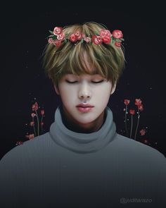 "I got to see him one last time. *don't  cry, just don't cry!* Jin looked so beautiful, like he was just sleeping. ""I love you"", I whispered while placing the crown of flowers I made for him on his head. Finally I've told him, even tough I didn't want to do that on his furneral. I looked at him one last time. ""Forever."", I whispered and my sight got blurry."