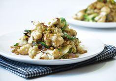Roasted cauliflower and freekeh warm salad