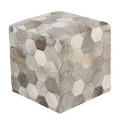 Cowhide Pouf - All Furniture & Lighting - Hide Designs - Shopping Inspiration - Tailored Sophistication - Shopping Inspiration - Contemporary Ranch - Pfeifer Finds - Poufs - See It All! - What's New! @ Pfeifer Studio- Detail