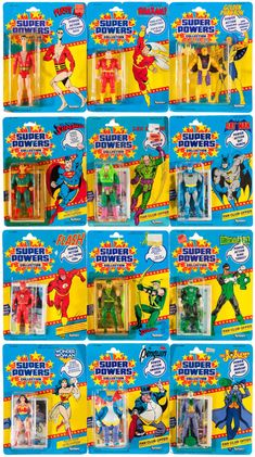 Super Powers Action Figures...probably my favorite line of Super Hero action figures ever. They were simple and depicted the heroes as they were in the comics/cartoons. No crazy BS weapons or stupid variants. Just toys...of Super Heroes.