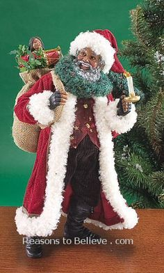 Black Santa - Lighting the Way - designed by Thomas Blackshear