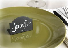 Black Chalkboard Place Cards (Pack of 10). Not to use as place cards, but as the food buffet markers.