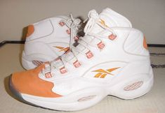 Reebok Question White/Orange had these in 99'  want them again.