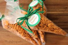 Easter Carrot Treat Bags with FREE printable tags!