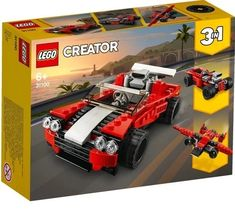 Purchase the LEGO® Creator™ Sports Car Set at Michaels. Give this three-in-one brick construction kit from Lego to your kids to help them develop imaginative play. Lego Creator, The Creator, Red Sports Car, Sport Cars, Ad Sports, Building For Kids, Building Toys, Lego Sets, Ford Mustang