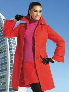 Пальто красный купить