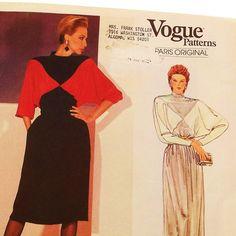 Vintage Christian Dior Dress Pattern Uncut  Vogue 1101 by Revvie1, $14.00
