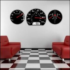 I love these decals for a car theme in a little boys room :) (not a living room!!)