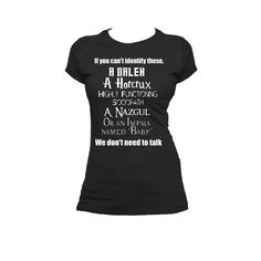 Supernatural Dr. Who Sherlock Harry Potter LOTR by NerdGirlTees