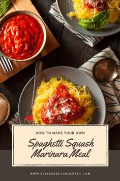 How to Make Your Own Spaghetti Squash Marinara Meal #healthy #food #recipes #glutenfree #lowcarb #blessedbeyondcrazy