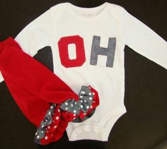 Ohio State long sleeve by BabiesNBaubles on Etsy, $39.95