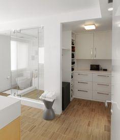 Bathroom Closet Remodel Walks 37 New Ideas Bathroom Closet, Laundry In Bathroom, Modern Bathroom, Small Bathroom, Bathroom Ideas, Ideas Baños, Closet Remodel, Luxury Closet, Closet Designs