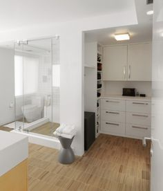 bathroomlaundry combo - Closet Bathroom Design