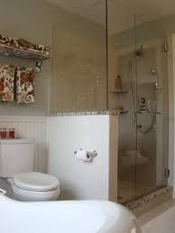 Image result for subway tile knee wall next to toilet
