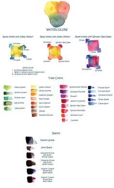 Watercolors by Tillette.deviantart.com on @deviantART
