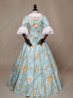 ... Ball Gown Dress Reenactment Costume Victorian