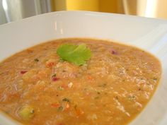 Gazpacho (Cold Soup) #Recipe with roasted Tomatoes   #Gazpacho #Cold #Soup #Tomato #Vegan #Vegetarian from #myhusbandisnotavegetarian