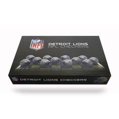 Detroit Lions NFL Checkers Set