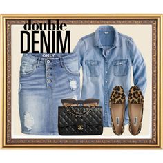 double your denim by myfashionwardrobestyle on Polyvore featuring moda, J.Crew, ONLY, Dune, Chanel and Cutler and Gross