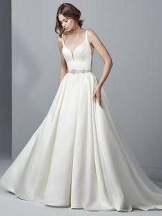 b72513abd5 Gavin Wedding Dress by Sottero   Midgley  Swarovski crystals and beading  accent the waist and