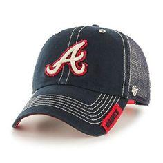 Amazon.com : MLB Atlanta Braves Turner Clean Up Adjustable Hat, One Size, Navy : Sports & Outdoors