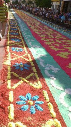 Detalle alfombra, Calle Ancha, Sanlúcar de Barrameda, CÁDIZ