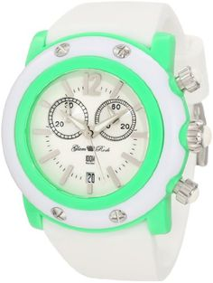 Glam Rock Women's GD1113WW Miami Beach Chronograph White Dial White Silicone Watch