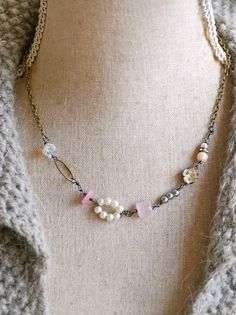 Sophia.romanticrose quartzvintage pink by tiedupmemories on Etsy, $42.00