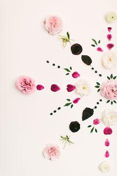 Fresh Floral Mandala Backdrop | The Shift Creative