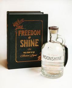 Freedom to Shine Moonshine - It fits inside the book. Can you stand it?!