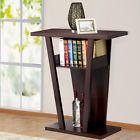 Console Table Sofa Entry Hall Table Shelf Set Exhibition Parlor Bedroom Espresso