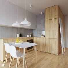 Aranżacje wnętrz - Kuchnia: Mieszkanie WE - Mała kuchnia, styl skandynawski…