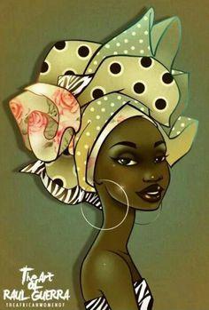 Raül Guerra                                                                                                                                                      Más Black Women Art, Black Art, Fabric Painting, Painting & Drawing, Tableaux Vivants, African Quilts, Afrique Art, African Paintings, Afro Art