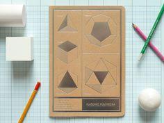 Polyhedra Jotter. $6.50, via Etsy.