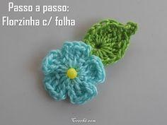 Cris Crochê com Amor: PASSO A PASSO FLOR DE CROCHE PARA INICIANTES
