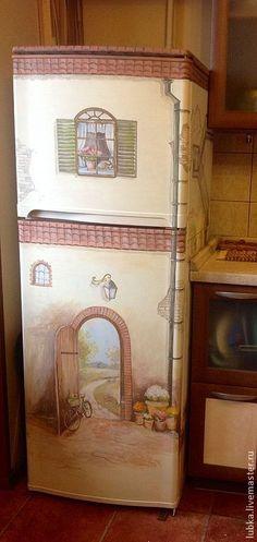 Купить Роспись холодильника - роспись стен, роспись стен бытовая, роспись холодильника