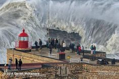 The big wave in Nazaré, Portugal.