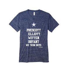 Le Boutique Shop - Cowboys Collection Short Sleeve Navy Marbled V Neck Unisex Tee, $32.99 (http://www.leboutiqueshops.com/cowboys-collection-short-sleeve-navy-marbled-v-neck-unisex-tee/)
