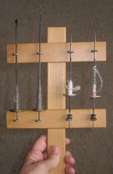 Spinning Forth - A Kate for charkha spindles