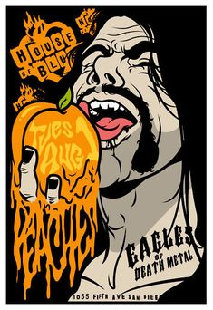 Eagles of Death Metal and Peaches concert poster House of Blues San Diego