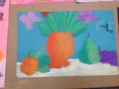 students worked with still lives and pastels this week in our morning Creative Arts Program.  Gorgeous