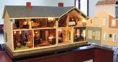 Pat's miniatures - Proctor Homestead - designed around her own family's farm home from the 40s.