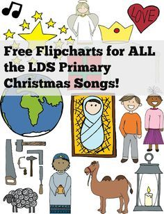 Free coloring page flipcharts for all the LDS Primary Christmas songs!